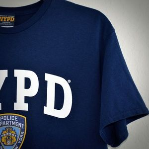 NYPD Mens T-Shirt L Cotton Officially Licensed